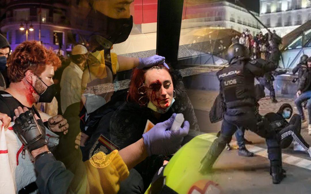 Crònica de la bestialitat policial post-Hasél L'Associació Professional de Mossos es fa la víctima mentre els agents empren porres extensibles i pilotes de goma; l'establishment mediàtic tria ésser solidari amb els contenidors cremats