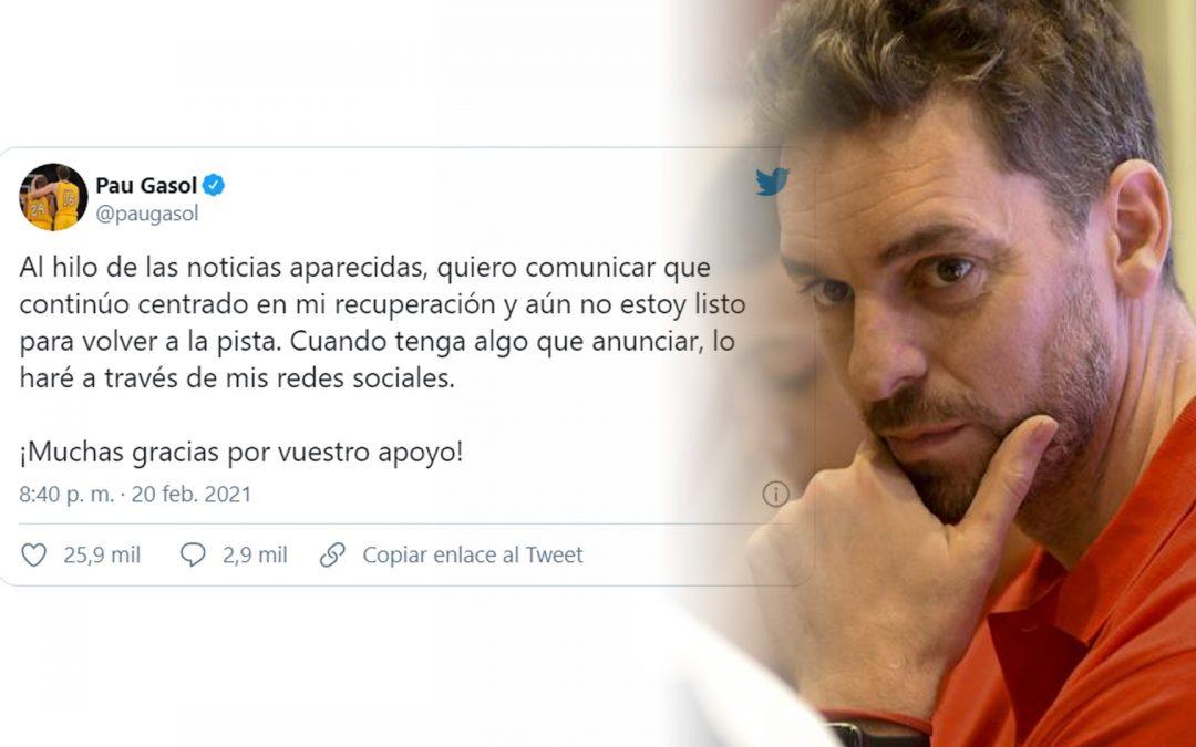 Pau Gasol continua a negociar la seva arribada al Barça però se sent molest per la filtració Molts mitjans es van precipitar a publicar-n'hi la incorporació, per una piulada del candidat Toni Freixa