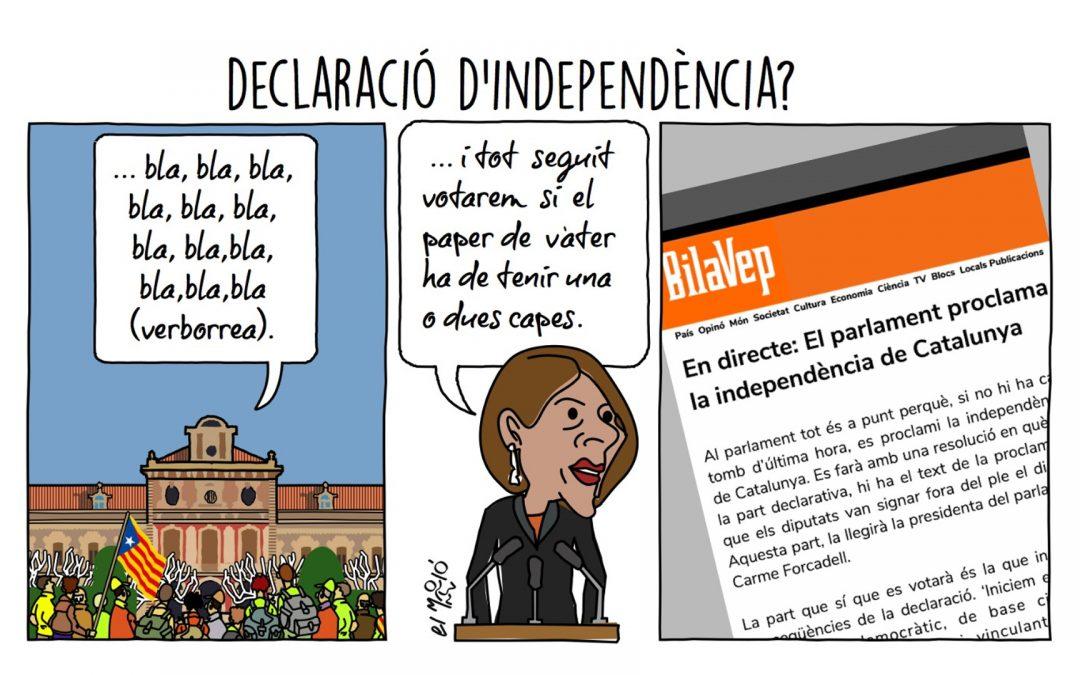 Declaració d'independència? La vinyeta de la setmana