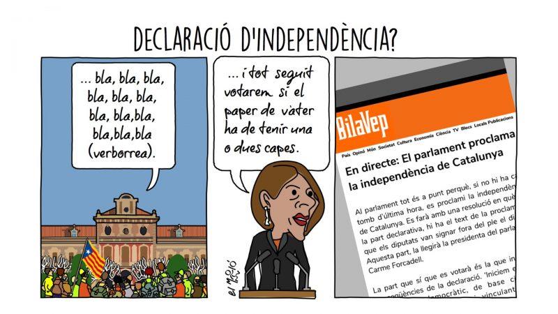 Declaració d'independència Vinyeta de la Setmana