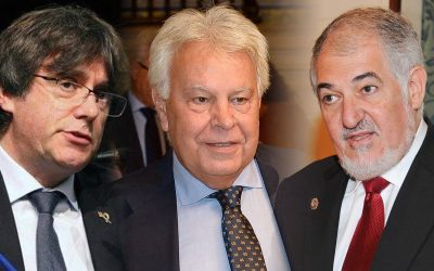 Puigdemont-Conde Pumpido-Felipe Gonzalez