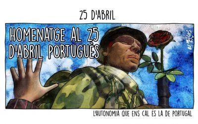 Homenatge al 25 d'abril portuguès La vinyeta de la setmana