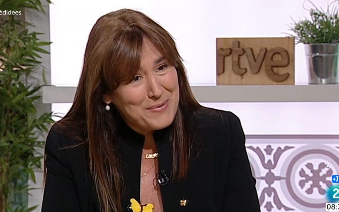 Laura Borràs tanca la porta a la independència en una entrevista a Televisió Espanyola Evita de dir-ho explícitament però considera impossible un referèndum acordat o unilateral i no proposa ni fer la DUI ni exercir els drets com a minoria nacionals