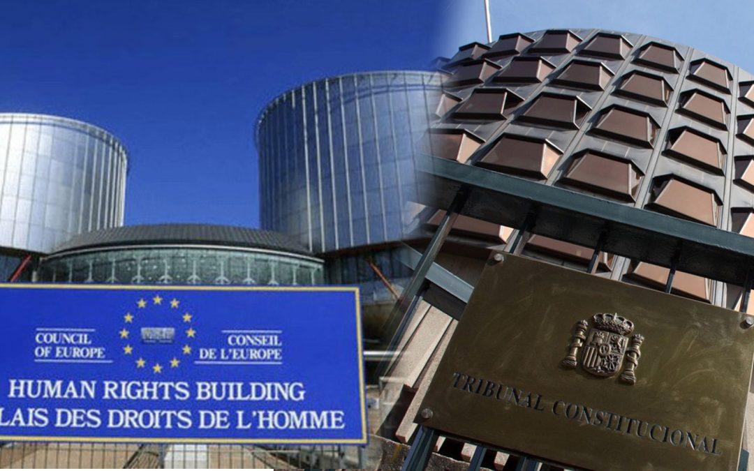 Tribunal Constitucional Espanyol-Tribunal Europeu Drets Humans