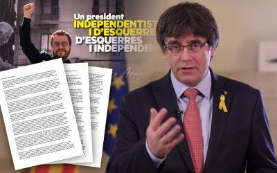 Carles Puigdemont Carta a la militancia