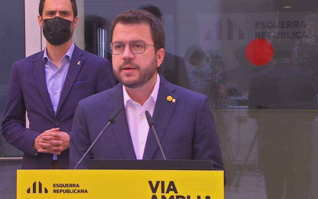 ERC anuncia estar disposada a començar a governar tota sola Això requeriria que Junts per Catalunya li cedís vots, i continuar-hi la negociació
