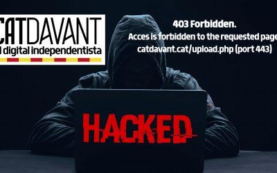 Catdavant.cat ha estat piratejada L'independentisme que ataca durament el processisme ha estat emmudit