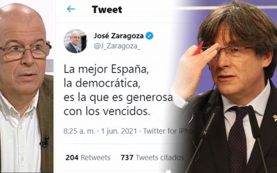"""José Zaragoza fa indignar els independentistes amb una piulada on els anomena """"vençuts"""" De Carles Puigdemont fins a tuïtaires anònims li contesten"""
