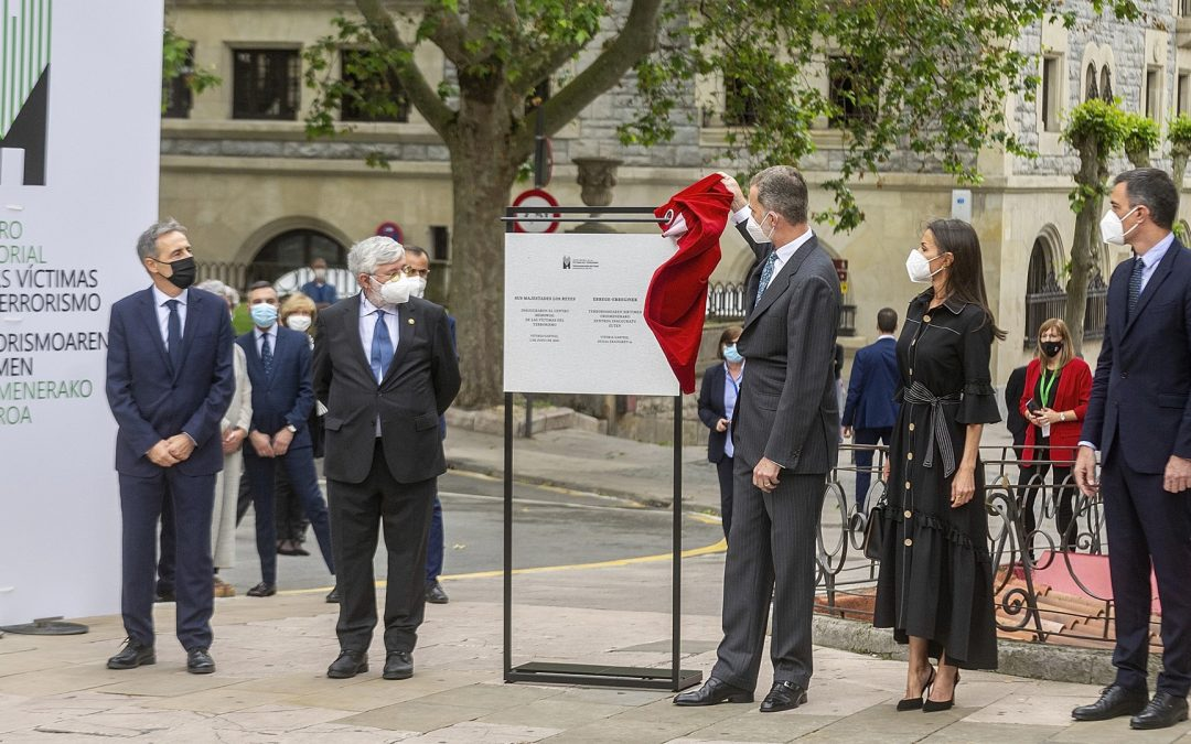 Pedro Sánchez-Marlaska-Rei Felip VI-Memorial de Víctimes