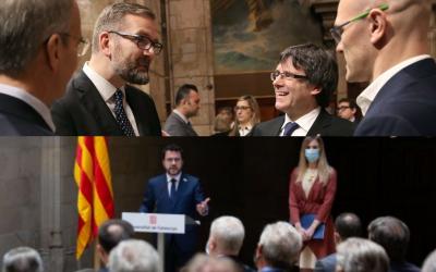 Aragonès i Alsina soterren, en quatre idiomes, el referèndum del 1r-O a escala internacional davant el cos consular Parlen de referèndum i amnistia i deixen en evidència Puigdemont, que al 2017 va dir que el referèndum era vinculant i portaria a la independència aquell mateix any