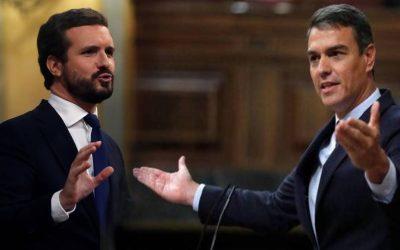 Sánchez (PSOE) i Casado (PP) coordinen manipular l'independentisme per psicologia inversa El primer ataca el referèndum pactat i el segon els indults per a aconseguir que l'independentisme accepti el parany referèndum i estimi els indultats