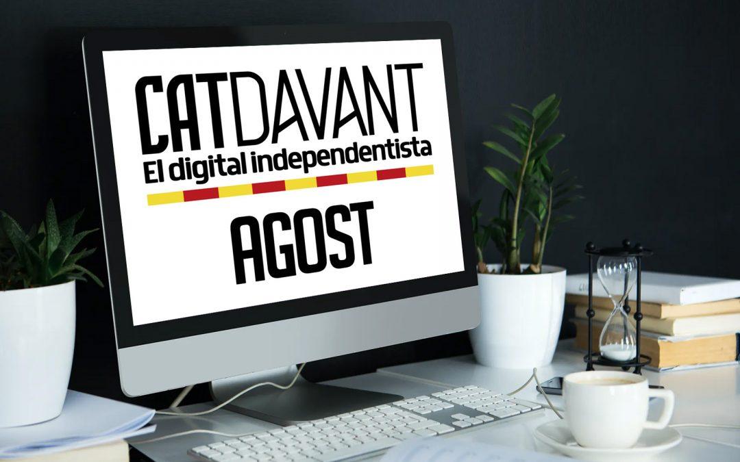 Catdavant prendrà un altre ritme a l'agost Publicarem una o més notícies noves cada dilluns d'agost
