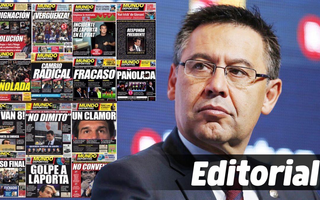 Editorial Contra el servilisme de la premsa esportiva catalana al bartorosellisme