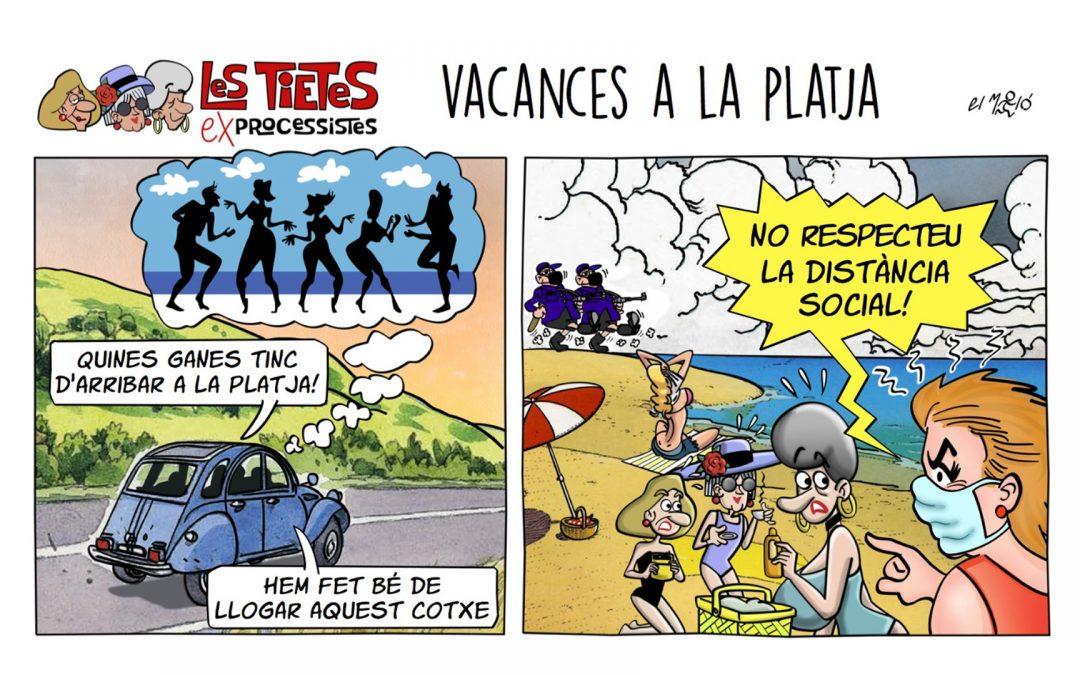 Vacances a la platja La vinyeta de la setmana