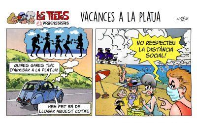 Vacances a la Platja - Vinyeta
