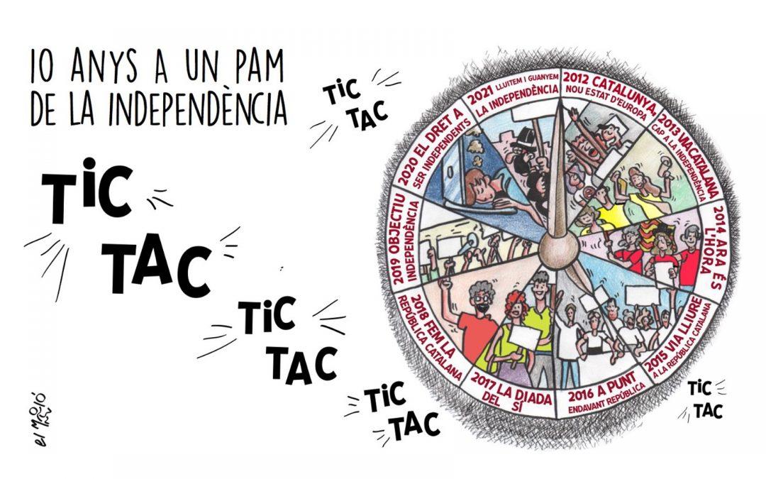 10 anys a un pam de la independencia - Vinyeta
