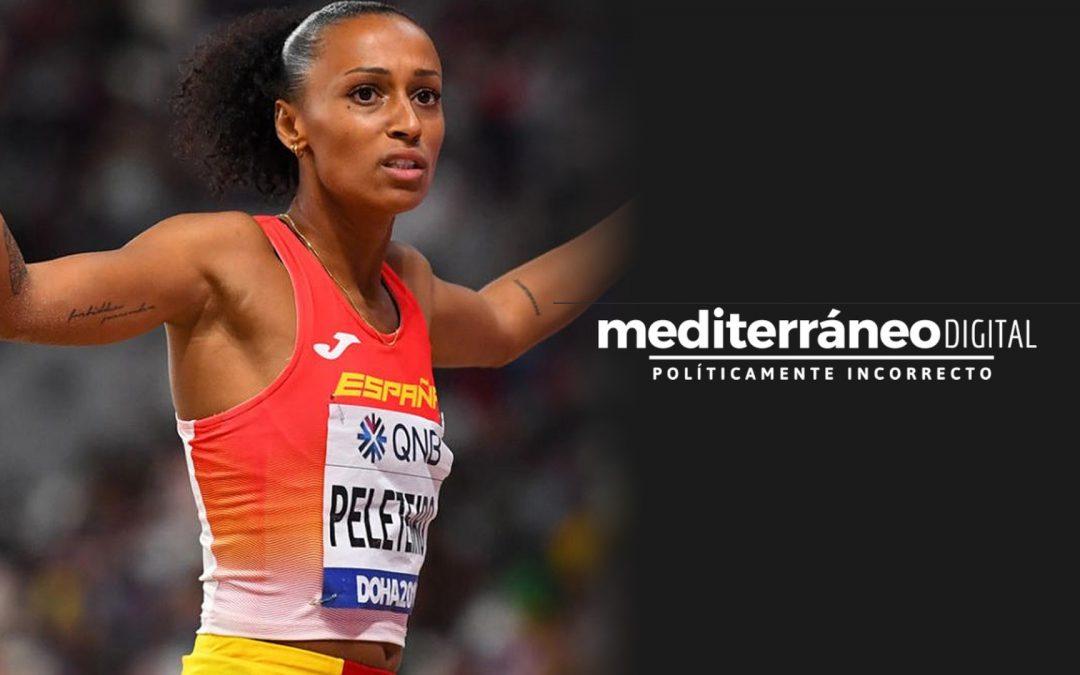 Mediterráneo Digital critica que una atleta negra es compri un cotxe de 50.000 euros Ana Peleteiro respon a Twitter amb una cita sobre l'enveja mentre  el pamflet ultra es vanta de rècords d'audiència