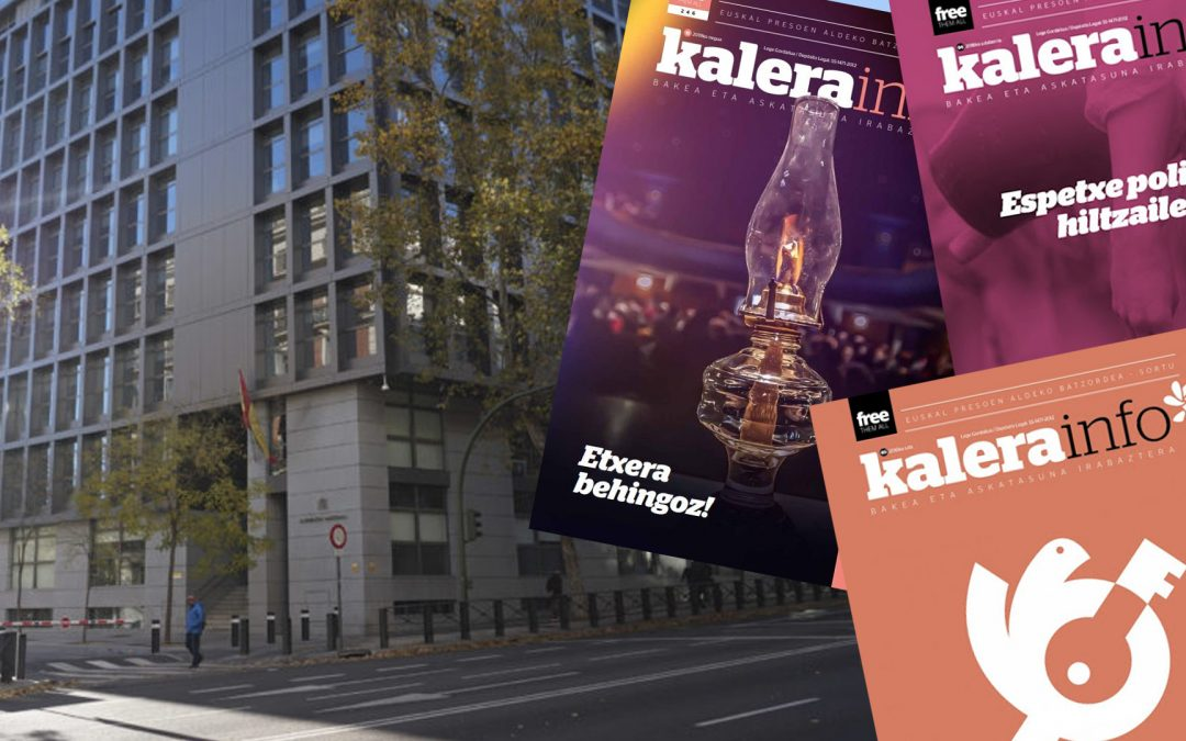 L'Audiencia Nacional torna a invocar ETA per tancar la publicació 'Kalera info' La decisió se suma a un llarg historial de clausures que inclou Egin, Ardi Beltza o Egunkaria