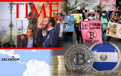 Nayib Bukele a Time-Bitcoin Salvador