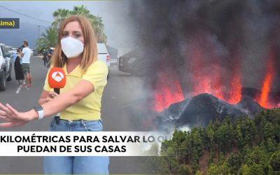 Una reportera d'Antena 3 entorpeix l'evacuació de les famílies afectades pel volcà de La Palma en nom de la proximitat informativa Susanna Griso se salta les restriccions de la zona per ser-hi transportada per policies i guàrdies civils