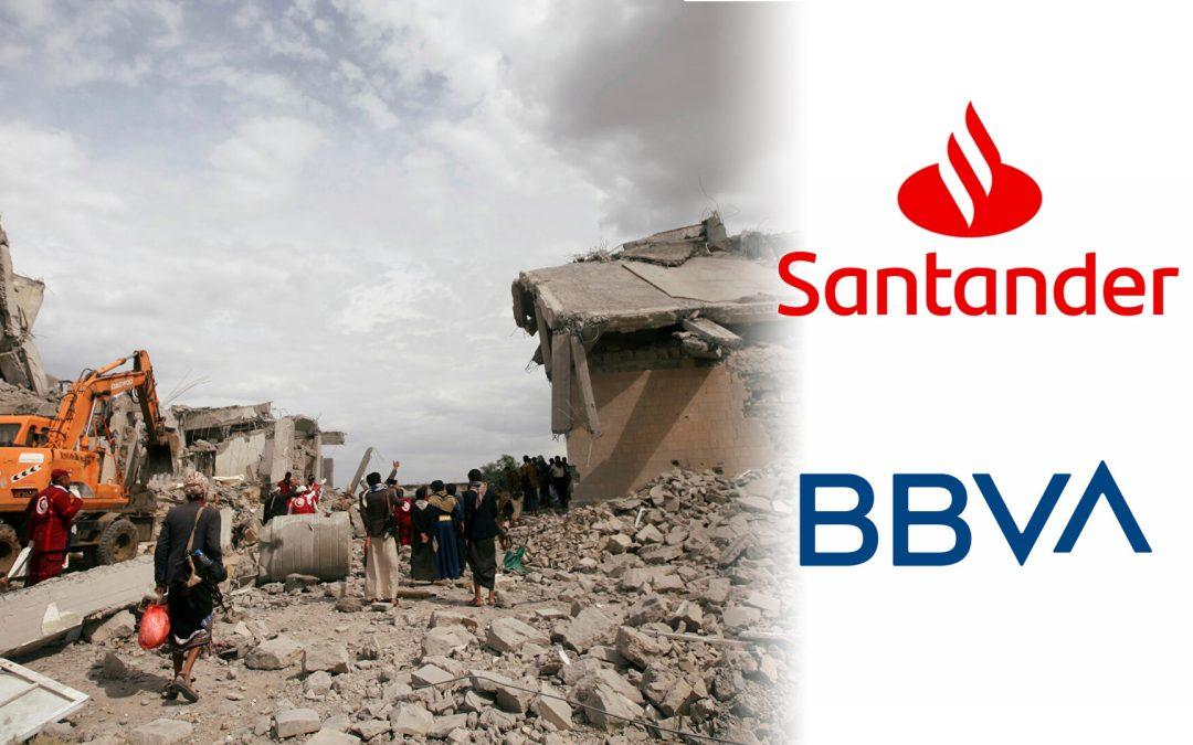 Els bancs espanyols han finançat amb 8.686 milions de dòlars la guerra del Iemen Un report del Centre Delàs conclou que el BBVA i el Santander lideren una operació mundial per enriquir empreses d'armament