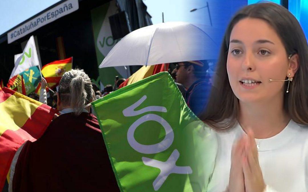 Un micròfon obert traeix la representant de Vox Joves Barcelona Elsa Almeda lamenta no poder elogiar Franco i en directe criminalitza els avortaments després d'una violació