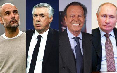 Guardiola-Ancelotti-Julio Iglesias-Putin