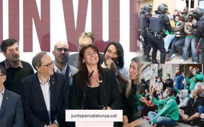 El Grup Promotor de la Llei 24/2015 acusa JuntsxCat de voler retallar la nova llei antidesnonaments Aquest dijous ha convocat una manifestació a l'Arc de Triomf de Barcelona per defensar una normativa que ha de restituir els articles suspesos pel TC