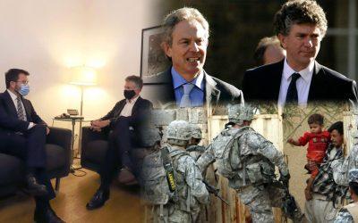 Pere Aragonès es reuneix amb l'expert en resolució de conflictes, Jonathan Powell Powell té molta experiència i va ser cap de gabinet de Tony Blair, cosa que el vincula negativament a la guerra d'Irak